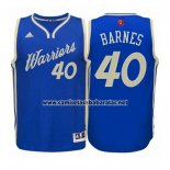Camiseta Navidad 2015 Golden State Warriors Harrison Barnes #40 Azul