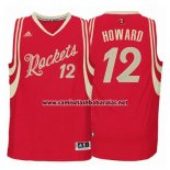 Camiseta Navidad 2015 Houston Rockets Dwight Howard #12 Rojo