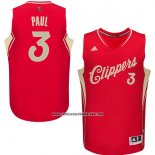 Camiseta Navidad 2015 Los Angeles Clippers Chris Paul #3 Rojo