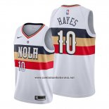 Camiseta New Orleans Pelicans Jaxson Hayes #10 Earned 2018-19 Blanco