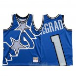 Camiseta Orlando Magic Tracy Mcgrady #1 Mitchell & Ness Big Face Azul