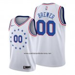 Camiseta Philadelphia 76ers Corey Brewer #00 2018-19 Blanco