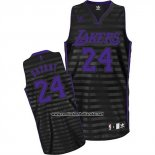 Camiseta Ranura Moda Los Angeles Lakers Kobe Bryant #24 Negro