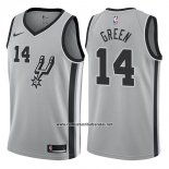 Camiseta San Antonio Spurs Danny Green #14 Statement 2017-18 Gris