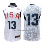 Camiseta USA 2008 Paul #13 Blanco