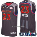 Camiseta All Star 2017 Golden State Warriors Draymond Green #23 Negro
