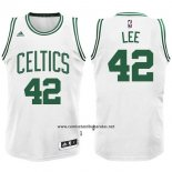 Camiseta Boston Celtics David Lee #42 Blanco