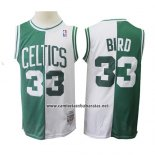Camiseta Boston Celtics Larry Bird #33 Retro Verde Blanco