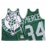 Camiseta Boston Celtics Paul Pierce #34 Mitchell & Ness Big Face Verde
