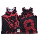 Camiseta Chicago Bulls Zach Lavine #8 Mitchell & Ness Big Face Negro