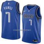 Camiseta Dallas Mavericks Dwight Powell #7 Icon 2018 Azul