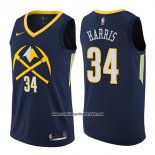 Camiseta Denver Nuggets Devin Harris #34 Ciudad 2017-18 Azul