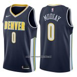 Camiseta Denver Nuggets Emmanuel Mudiay #0 Icon 2017-18 Azul
