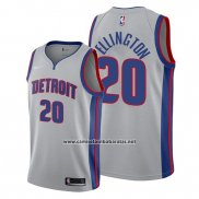 Camiseta Detroit Pistons Wayne Ellington #20 Statement Gris