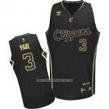 Camiseta Electricidad Moda Los Angeles Clippers Chris Paul #3 Negro