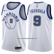 Camiseta Golden State Warriors Andre Iguodala #9 Hardwood 2017-18 Blanco