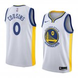 Camiseta Golden State Warriors Demarcus Cousins Association #0 2018-19 Blanco