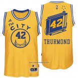 Camiseta Golden State Warriors Nate Thurmond #42 Retro City Bus Amarillo