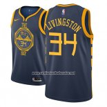 Camiseta Golden State Warriors Shaun Livingston #34 Ciudad 2018-19 Azul