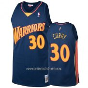 Camiseta Golden State Warriors Stephen Curry 2009-10 Hardwood Classics Azul