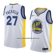 Camiseta Golden State Warriors Zaza Pachulia #27 Association 2018 Blanco