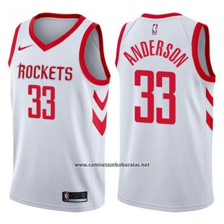 Camiseta Houston Rockets Ryan Anderson #33 Swingman Association 2017-18 Blanco