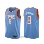Camiseta Los Angeles Clippers Danilo Gallinari #8 Ciudad Azul