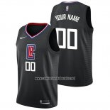 Camiseta Los Angeles Clippers Personalizada Statement 2019 Negroa
