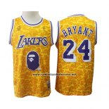 Camiseta Los Angeles Lakers Kobe Bryant #24 Mitchell & Ness Amarillo
