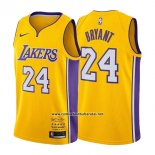 Camiseta Los Angeles Lakers Kobe Bryant #24 Retirement 2017-2018 Oro