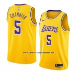 Camiseta Los Angeles Lakers Tyson Chandler #5 Icon 2018-19 Oro