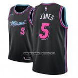 Camiseta Miami Heat Derrick Jones #5 Ciudad 2018-19 Negro