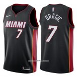 Camiseta Miami Heat Goran Dragic #7 2017-18 Negro
