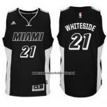 Camiseta Miami Heat Hassan Whiteside #21 Negro