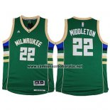 Camiseta Milwaukee Bucks Khris Middleton #22 Verde
