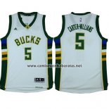 Camiseta Milwaukee Bucks Michael Carter-Williams #5 Blanco