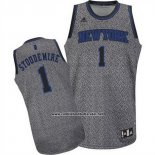 Camiseta Moda Estatica New York Knicks Amar'e Stoudemire #1 Gris