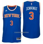 Camiseta New York Knicks Brandon Jennings #3 Azul