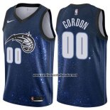 Camiseta Orlando Magic Gordon #00 Ciudad 2017-18 Azul