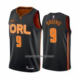 Camiseta Orlando Magic Nikola Vucevic #9 Ciudad Edition Negro2