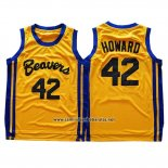 Camiseta Pelicula Beavers Dwight Howard #42 Amarillo