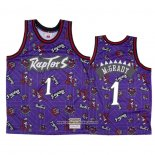 Camiseta Toronto Raptors Tracy Mcgrady #1 Hardwood Classics Tear Up Pack Violeta