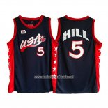 Camiseta USA 1996 Grant Hill #5 Negro