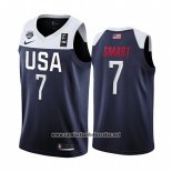 Camiseta USA Marcus Smart #7 2019 FIBA Basketball World Cup Azul