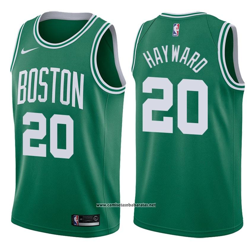 67ace408c Camiseta Boston Celtics Gordon Hayward  20 2017-18 Verde