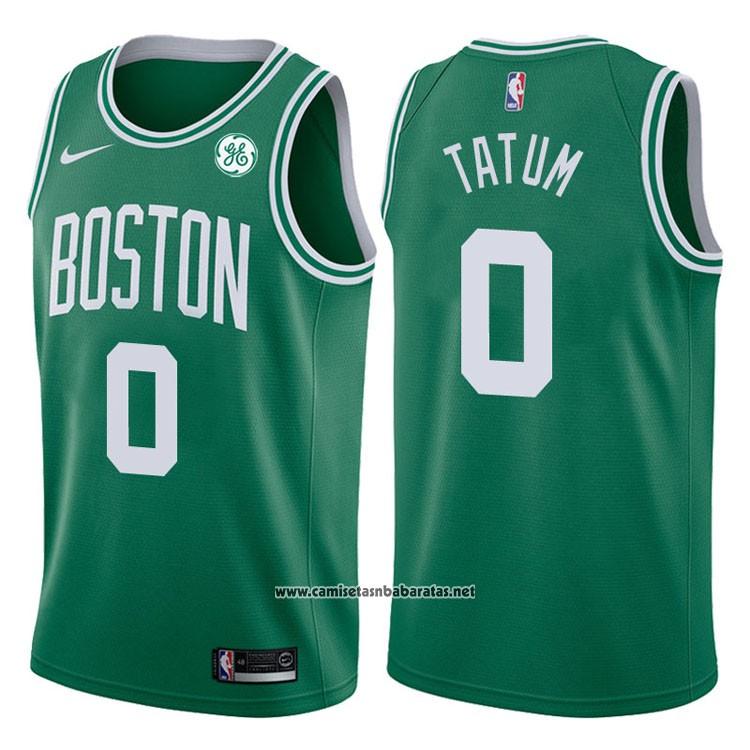 Camiseta Boston Celtics Jayson Tatum  0 2017-18 Verde a94d6b28d3f