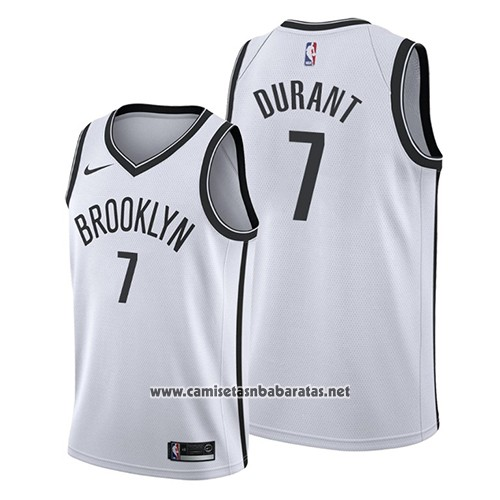 Camiseta Brooklyn Nets Kevin Durant #7 Association 2019 Blanco