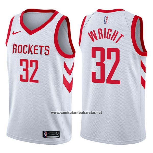 Camiseta Houston Rockets Brandan Wright #32 Association 2017-18 Blanco
