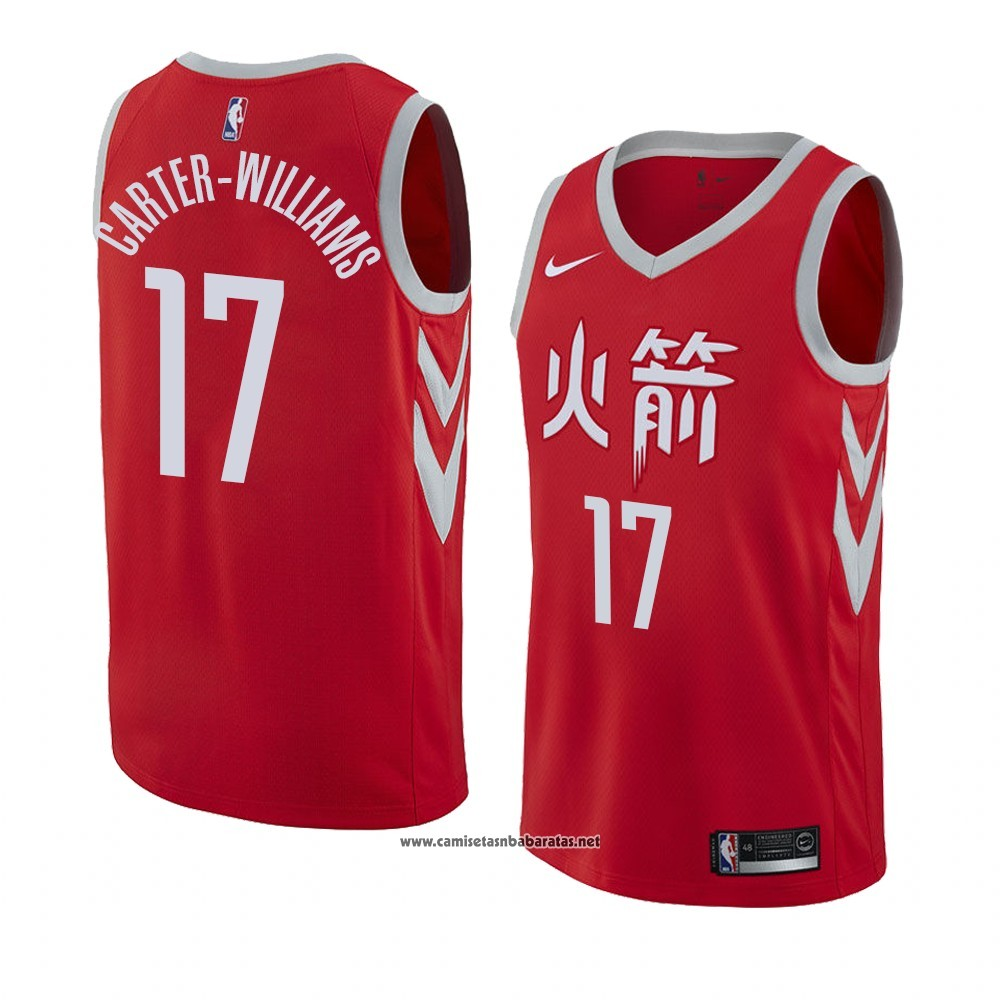 Camiseta Houston Rockets Michael Carter Williams #17 Ciudad 2017-18 Rojo