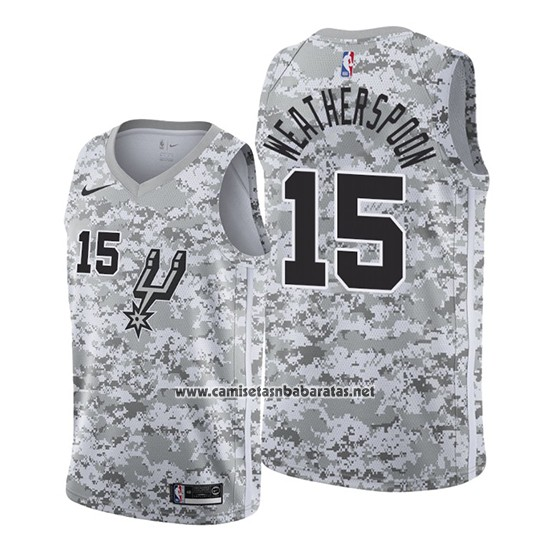 Camiseta San Antonio Spurs Quinndary Weatherspoon #15 Earned 2019-20 Camuflaje